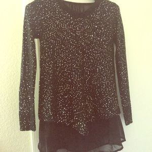 Tops - Sequin Knit Sweater Top